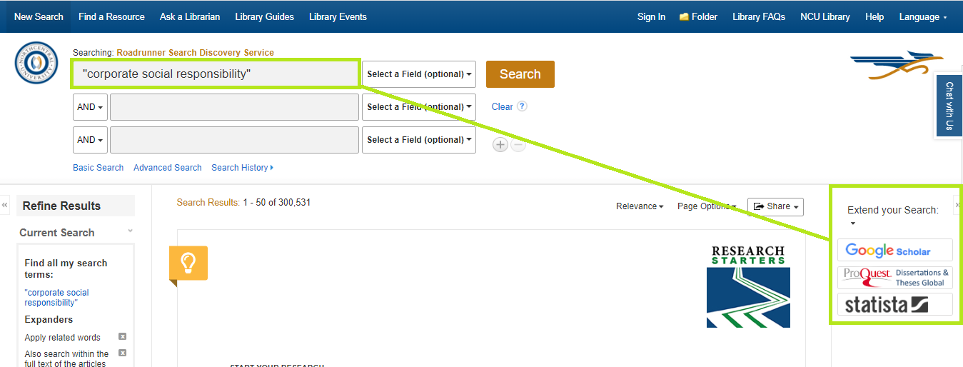 Extend your search widgets in Roadrunner